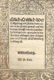 Keine reformatorischen Lieder! (1526)