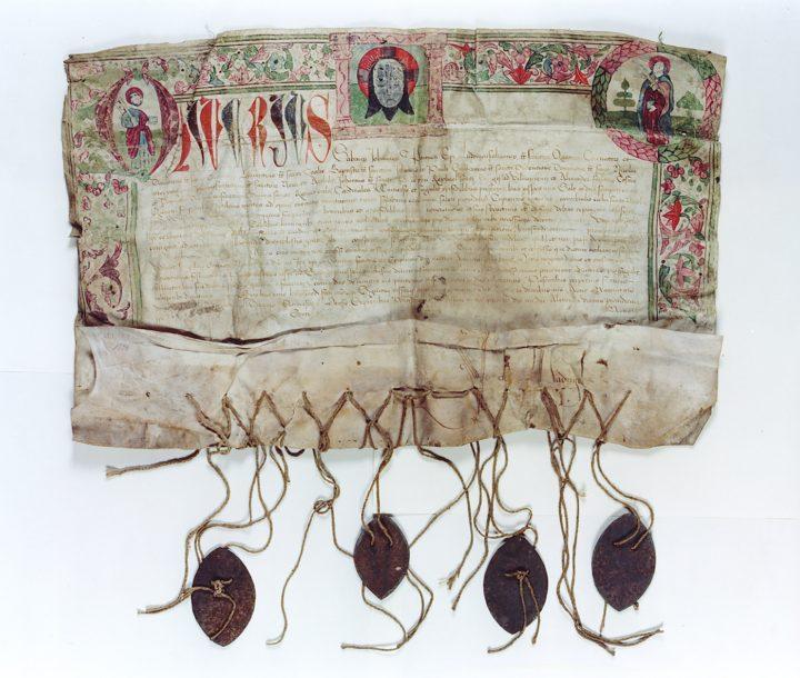 Ablassurkunde Wilsnack, 1500 (Domstiftsarchiv Brandenburg Wil 303U.8, Foto: Hans-Uwe Salge)